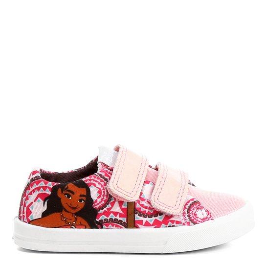 Tênis Disney Moana Velcro Infantil - Rosa - Compre Agora  dcf89708058b8