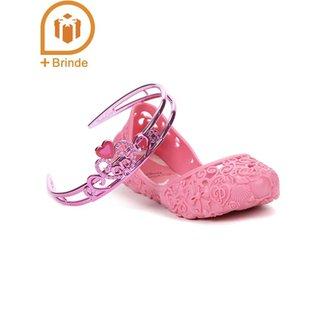 a948f229bf Sapatilha Infantil Para Menina Disney Princesas - Rosa