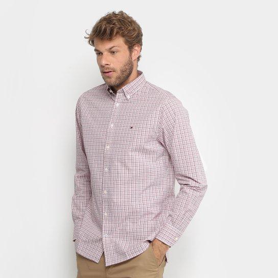 Camisa Xadrez Tommy Hilfiger Regular Fit Masculina - Compre Agora ... 22d1cf42450