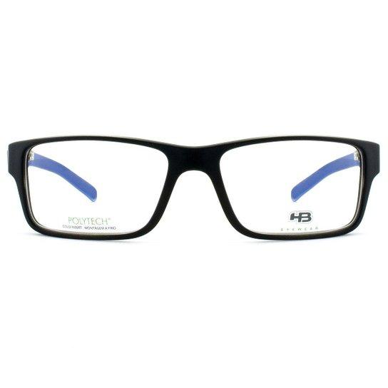 63f9265e3d37d Óculos de Grau HB Polytech Masculino - Preto e Azul - Compre Agora ...