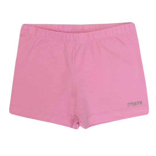 Shorts Infantil Basico Cotton Momi Feminino - Rosa - Compre Agora ... 637c8a98eb3