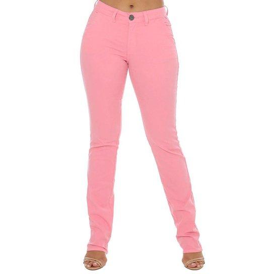 b438bc467 Calça Jeans Denuncia Alfaiataria Feminina - Rosa | Zattini