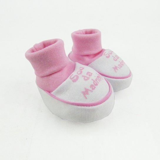 bf3d62761c Pantufa Bebê Feminina Suedine Sou da Madrinha Rosa - Rosa - Compre ...