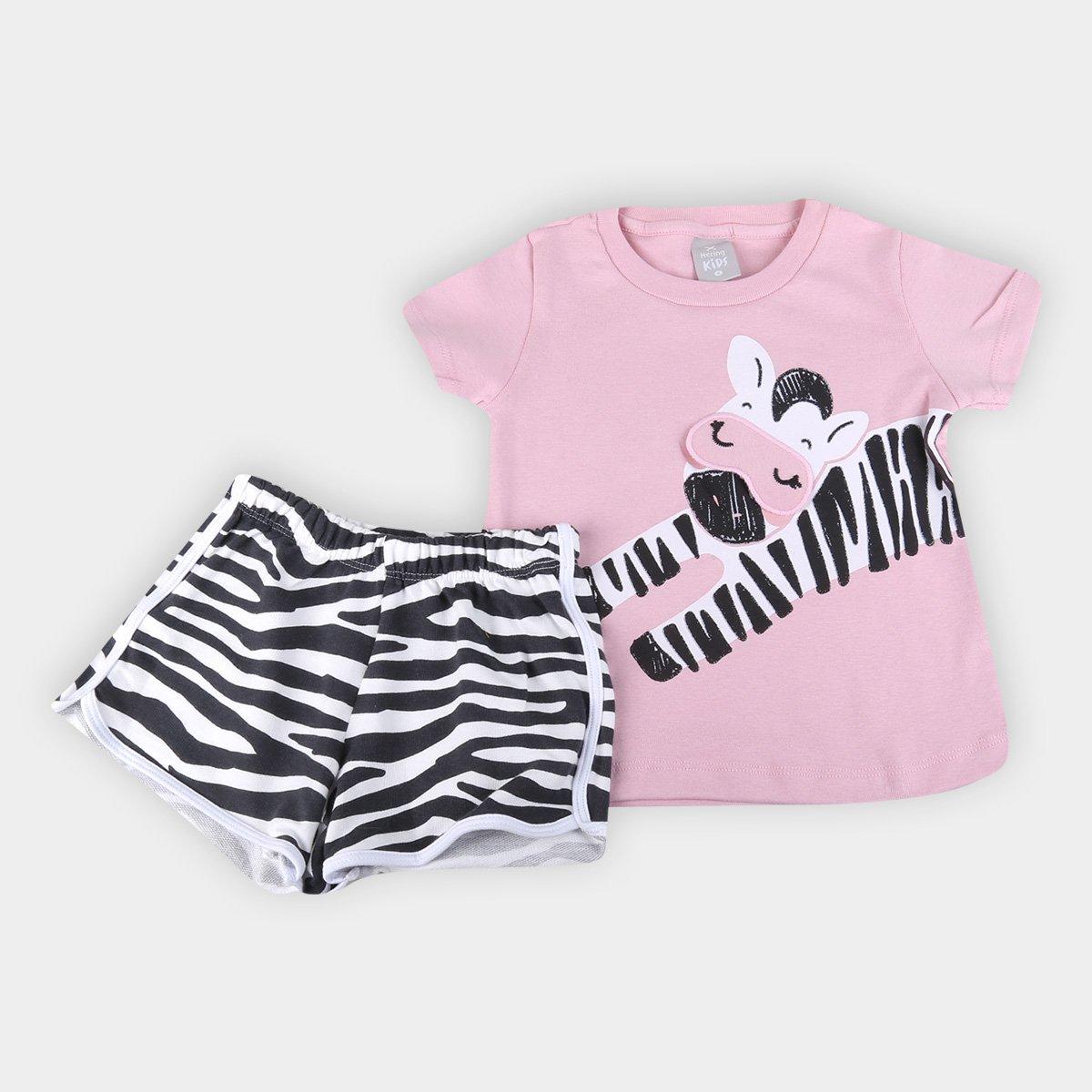 Pijama Infantil Hering Zebrinha Feminino