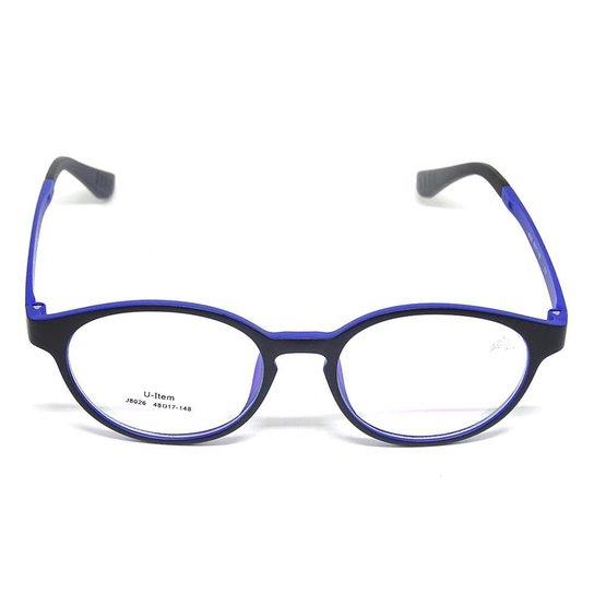 bd5f71fccb204 Óculos De Grau Kids TR 90 Cayo Blanco - Preto e Azul - Compre Agora ...