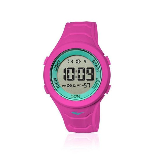 ef92e8d77bd Relógio Everlast Digital Unissex Cx e Pulseira Silicone - Rosa ...