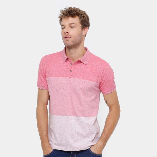 36a46b755d Camisa Polo Reserva Piquet Degradê Mesclado Masculina - Rosa