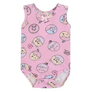 6a919f4f4f06 Body Bebê Malha Cavado Donuts Meia de Leite Feminino