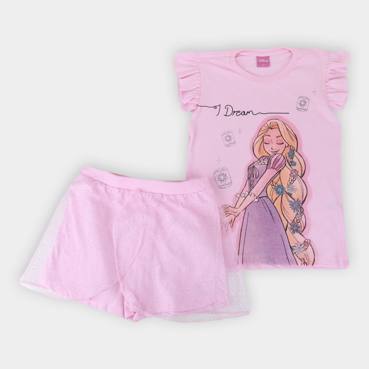 Pijama Infantil Evanilda Princesas Disney Feminino