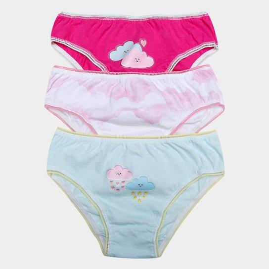 9a2c4e1d8 Kit Calcinha Daisy Days Nuvens 3 Peças Infantil - Compre Agora