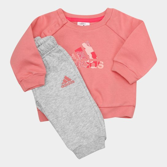 bdc099ef92dd6 Conjunto de Moletom Infantil Adidas Baby Feminino - Compre Agora ...