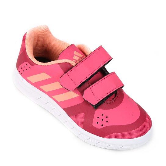 Tênis Infantil Adidas Quicksport Cf 2 C Velcro - Rosa - Compre Agora ... a58b682a928