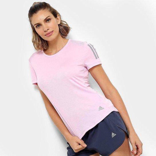 0172df82886c2 Camiseta Adidas Response Soft Feminina - Rosa - Compre Agora