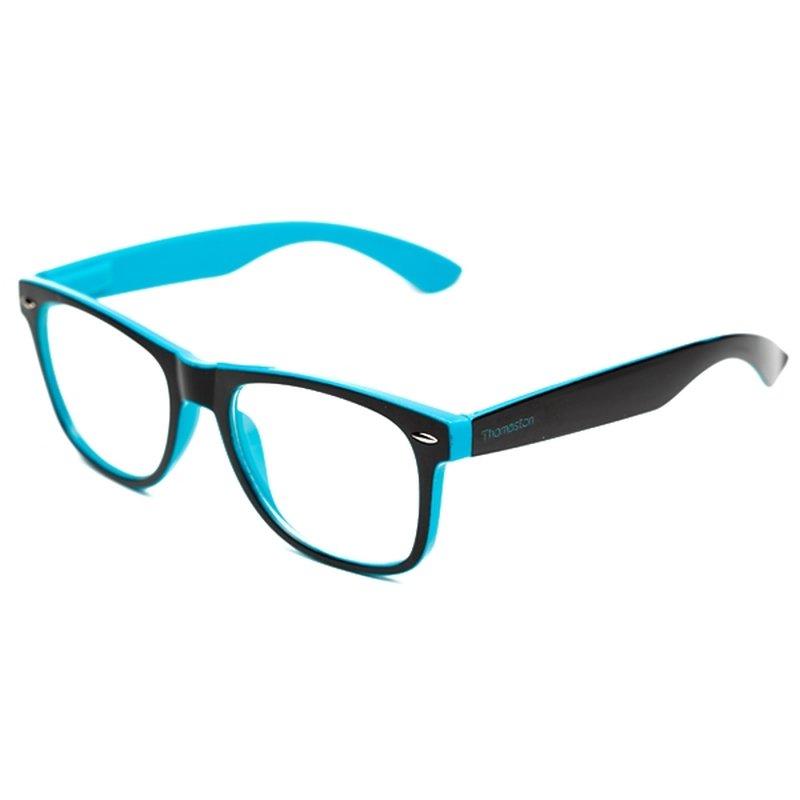 44cae9200 Armação de óculos Thomaston Reeves Preto e Azul