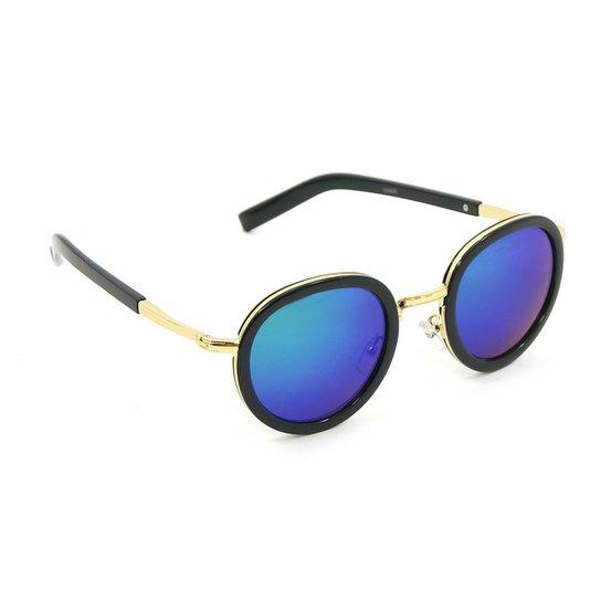 Óculos Bijoulux de Sol Round Espelhado - Compre Agora   Zattini 1dfa7a0d44