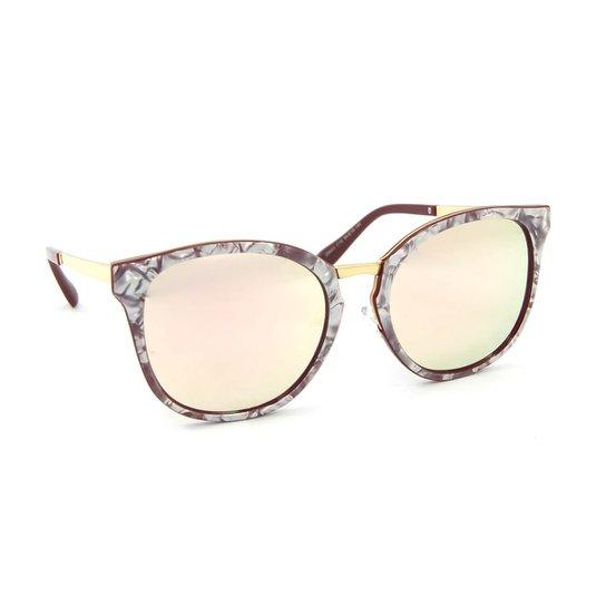 f9208a8484f76 Óculos de Sol Marmorizado Lente espelhada - Compre Agora