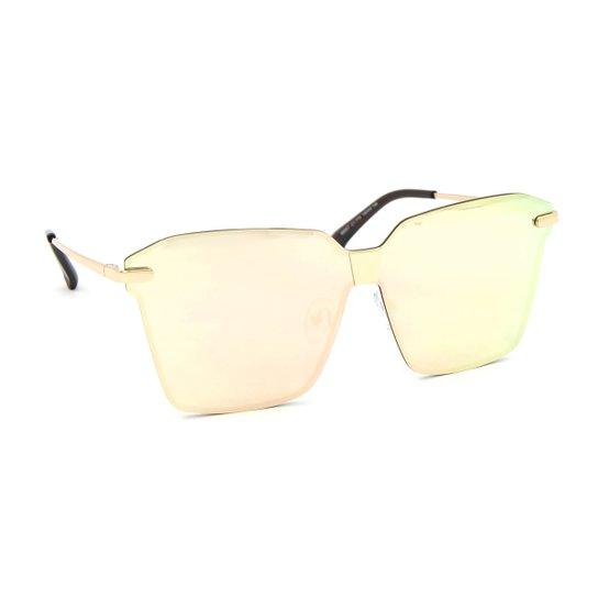 Óculos de Sol Estilo Flat com Lente Espelhada - Rosa - Compre Agora ... c4cb103a59