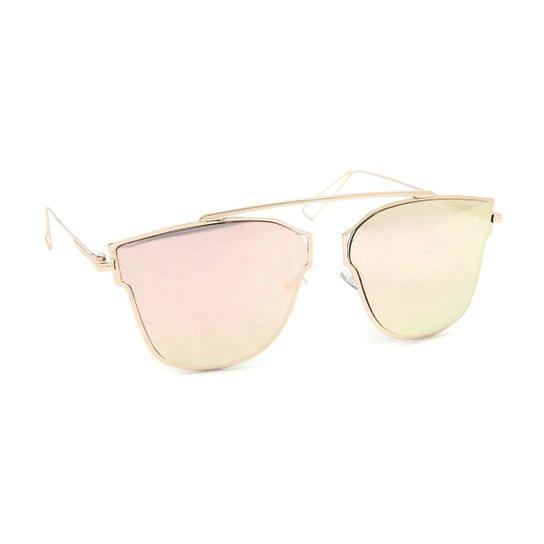 260a20d7f24e5 Óculos de Sol Rosé Estilo Flat com Lente Espelhada - Compre Agora ...