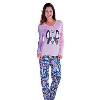a7831f0db82d Pijama Feminino Victory Inverno Frio Longo Malha Fria