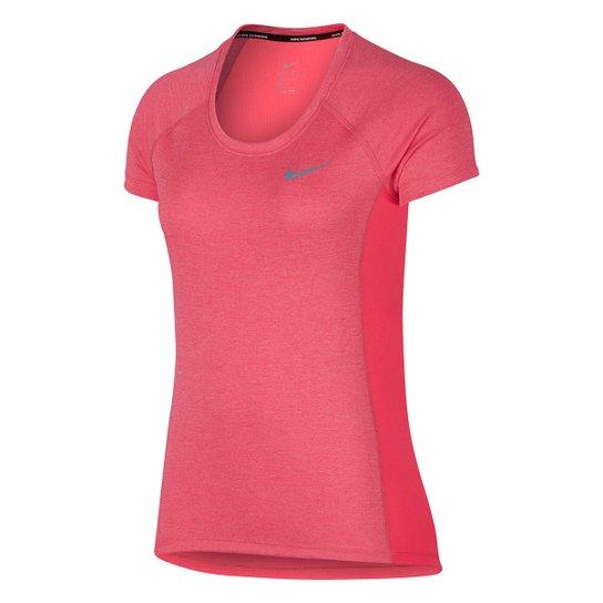 Camiseta Nike Dri-Fit Miler Top Crew Feminina - Compre Agora   Zattini 76aff31d61
