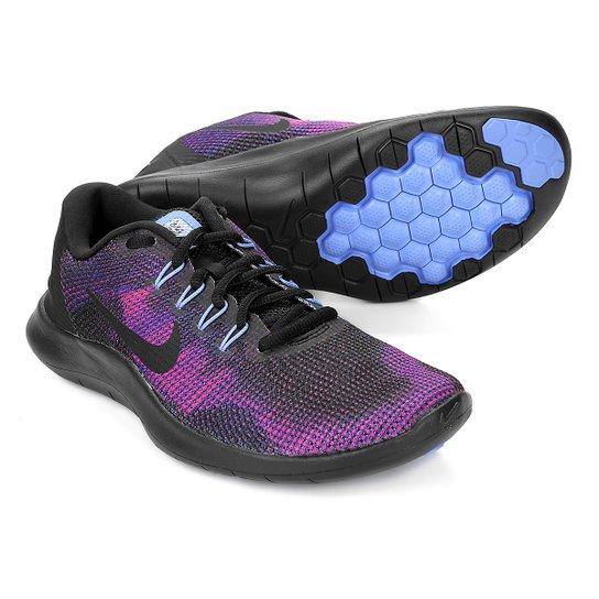 93a89915753 Tênis Nike Wmns Flex 2018 Rn Feminino - Preto e Azul - Compre Agora ...