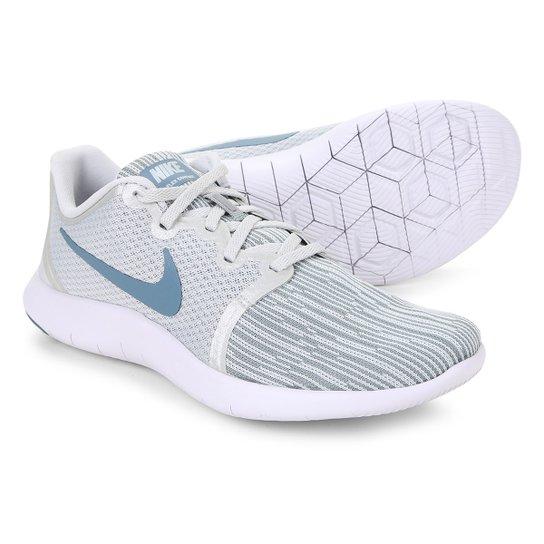 c42a94e4a9faf Tênis Nike Flex Contact 2 Feminino - Branco e Azul Petróleo - Compre ...