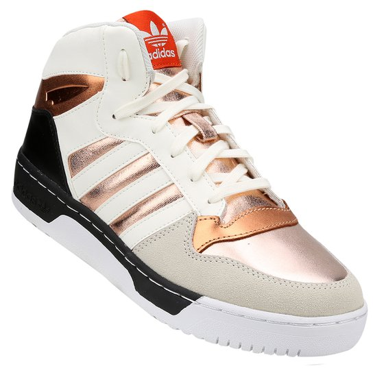 59b606267267b Tênis Adidas M Attitude Revive W - Branco+dourado