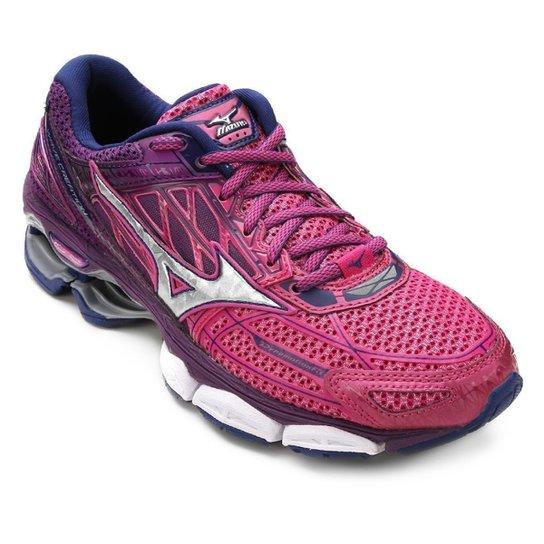 24a35c746a1 Tênis Mizuno Wave Creation 19 Feminino - Pink e Azul - Compre Agora ...