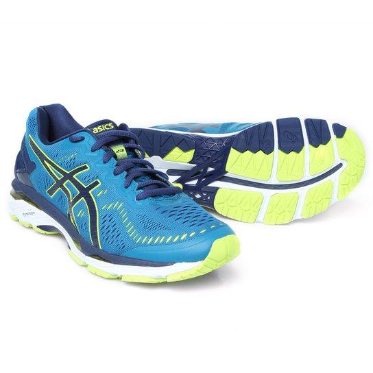 8734fae8ba200 Tênis Asics GEL Kayano 23 Masculino - Azul+Verde Limão