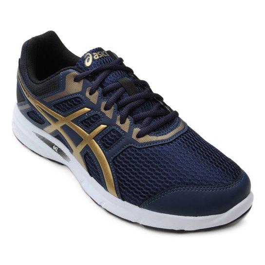 Tênis Asics Gel Excite 5 A Masculino - Azul e Dourado - Compre Agora ... 3ddcf14c6b502