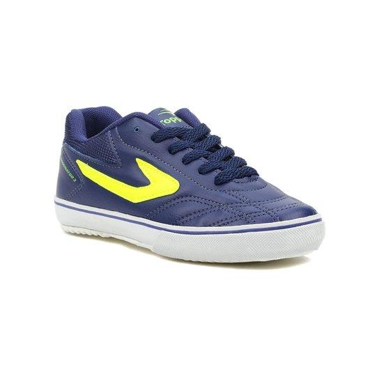 Tênis Futsal Infantil Para Menino Topper Dominator Iii Jr Azul  marinho verde - Azul+ 373d146b54be9