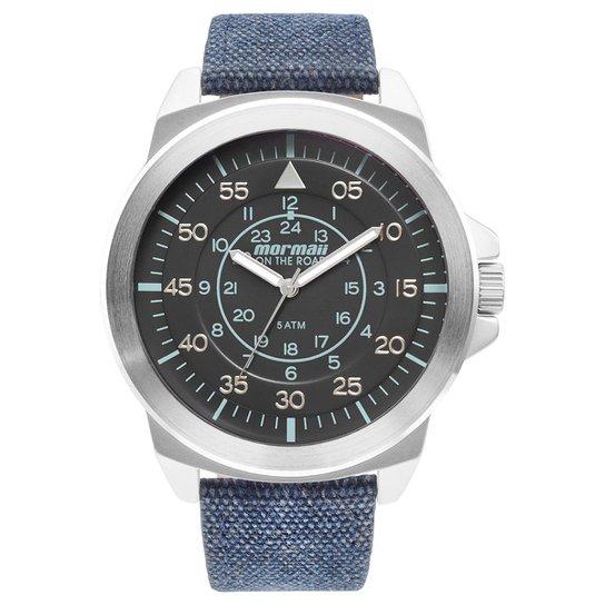11319309cf2 Relógio Mormaii Analógico MO2035IG-3K Masculino - Preto e Azul ...