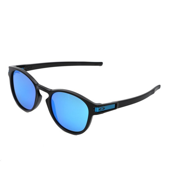 4e91bb6fc6b36 Óculos de Sol Oakley Latch Masculino - Preto e Azul - Compre Agora ...