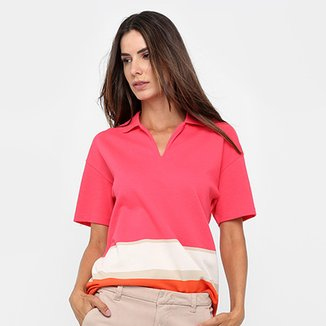 c9d15e2d3 Camisa Polo Lacoste Listras Feminina