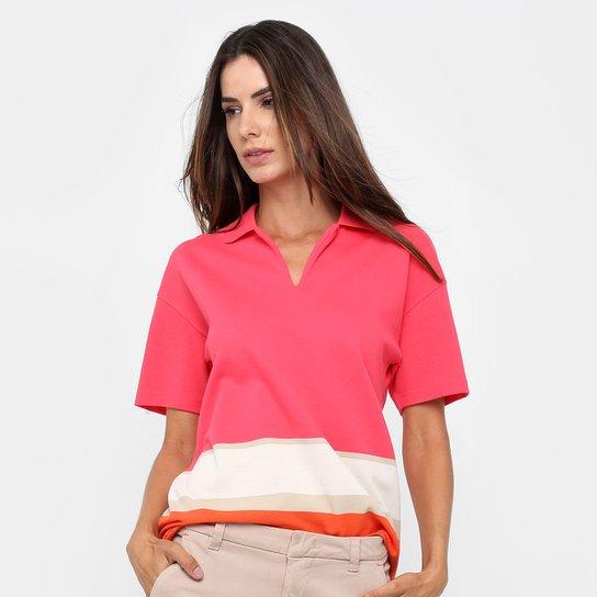 51de6b9ef984c Camisa Polo Lacoste Listras Feminina - Compre Agora