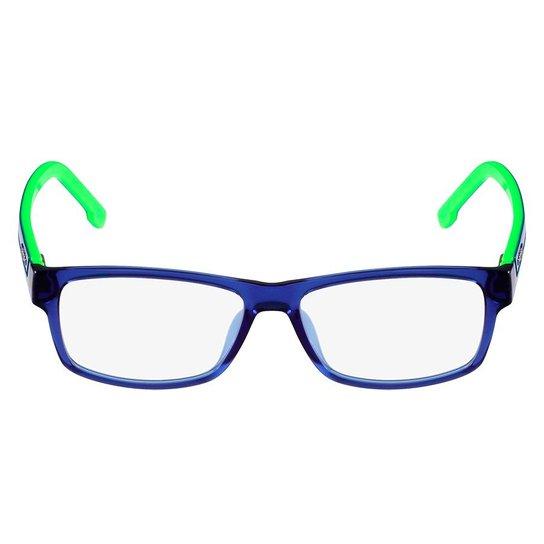 a4271d039b3c0 Armação Óculos de Grau Lacoste L2707 454 53 - Azul e Verde - Compre ...