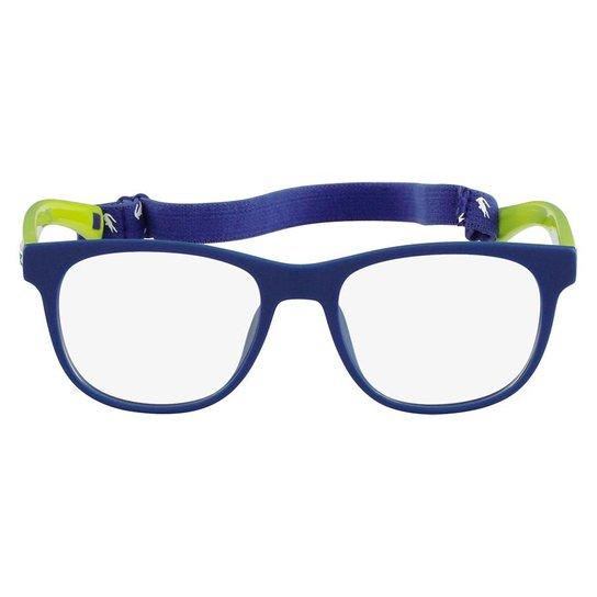 252b854c6c74b Armação Óculos de Grau Lacoste L3621 001 47 - Azul e Verde - Compre ...