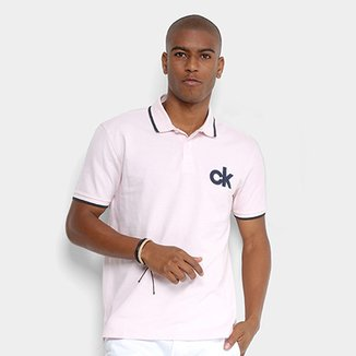 Camisa Polo Calvin Klein Detalhe Bordado Masculina bc3bc54490aab
