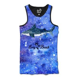Camiseta Regata Long Beachs Aquarela Tuburão Sublimada Masculina d361f7d2089