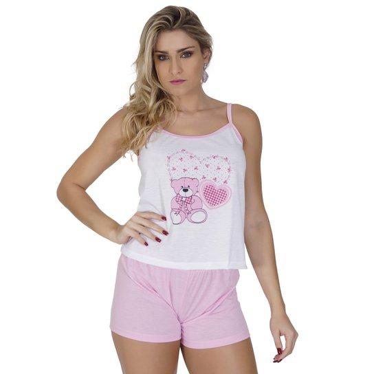 543c3ad63 Baby Doll Click Chique Sem Bojo Com Elástico Embutido - Rosa