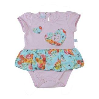 Body-Saia Bebê Cotton - Estampado Corações 93f8c04ac443e