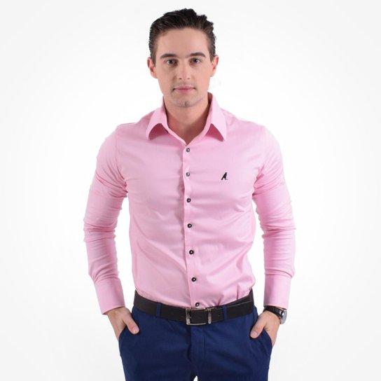 f6d9f8cee Camisa Social Masculina - Super Slim - Rosa | Zattini