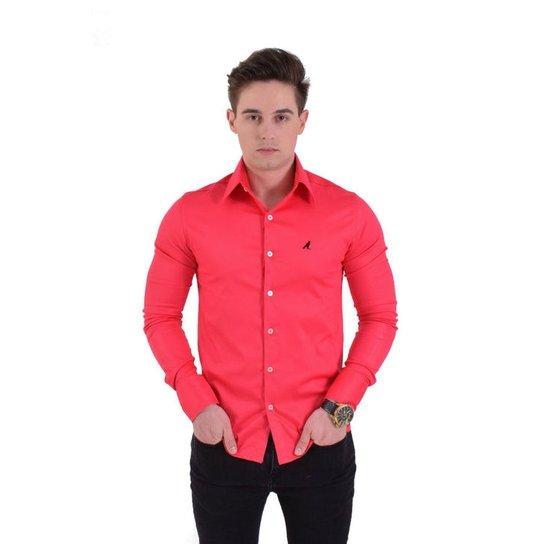 Camisa Social Masculina Cereja Super Slim - Rosa - Compre Agora ... 2e70fba7d3379