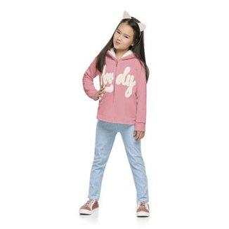 Conjunto Infantil Jaqueta Moletom e Calça Legging Quimby Feminino 309b47197c1