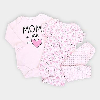 2388edfcd Kit Body Infantil Up Baby Estampado
