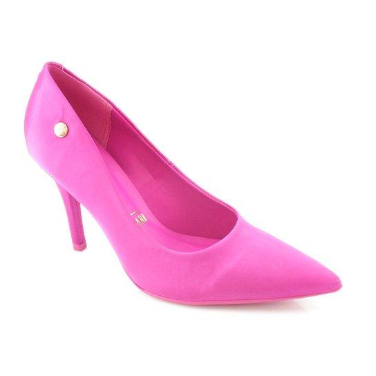 7b3ac3ba32 Sapato Scarpin Vizzano Cetim Glamour Pink 1184301 - Compre Agora ...