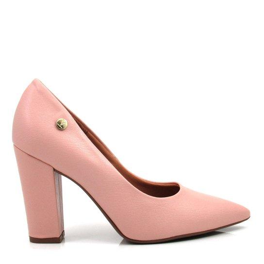 755a4fab78 Sapato Feminino Scarpin Salto Grosso Vizzano - Rosa - Compre Agora ...