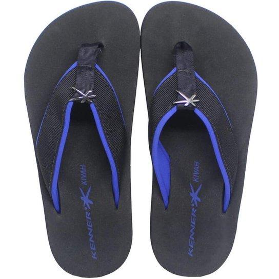 55658834b0 Chinelo Kenner Kivah Cushy Masculina - Preto e Azul - Compre Agora ...