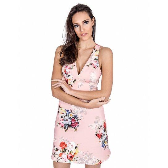 baef3879e1 Vestido Floral Neoprene Colcci - Rosa - Compre Agora