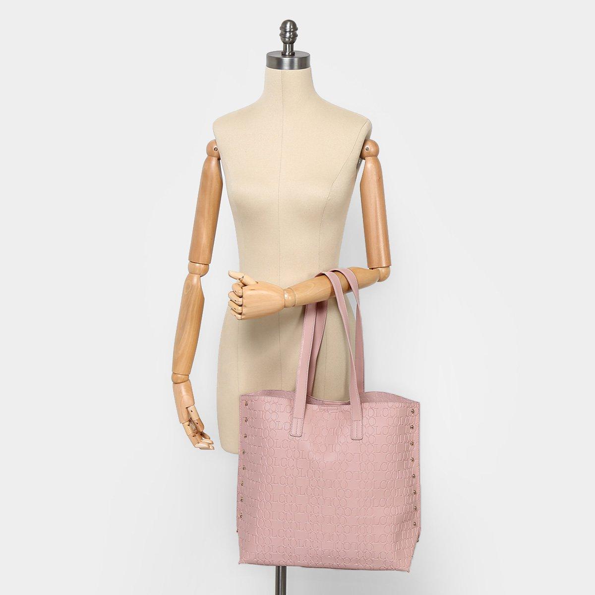 21f2992d5 Bolsa Colcci Shopper Croco Tachas Feminina   Livelo -Sua Vida com ...